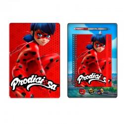Set papeleria Prodigiosa Ladybug caja metalica