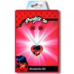Conjunto colgante pendientes Prodigiosa Ladybug