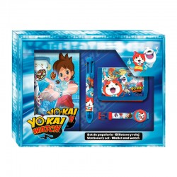 Set papeleria billetera reloj Yo Kai Watch caja lenticular