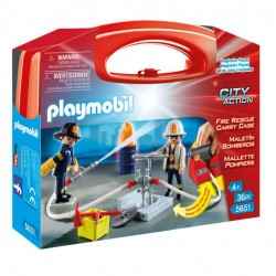 Maletin Bomberos Playmobil City Action
