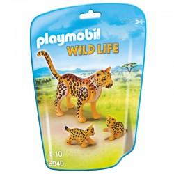 Leopardo con Crias Playmobil Wild Life