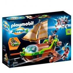Barco Pirata Camaleon con Ruby Playmobil Super 4
