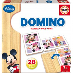 Juego domino Mickey Minnie Disney madera
