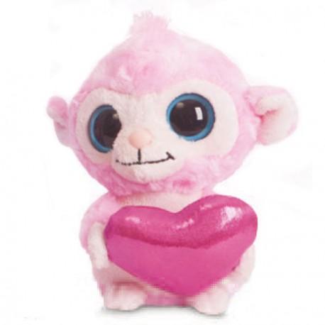 Peluche Luvee Monkey Pink Yoohoo & Friends 13cm