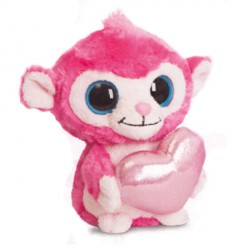 Peluche Luvee Monkey Hot Pink Yoohoo & Friends 13cm