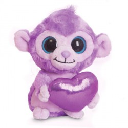 Peluche Luvee Monkey Purple Yoohoo & Friends 13cm