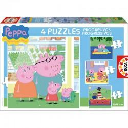 Puzzles progresivos Peppa Pig 6-9-12-16