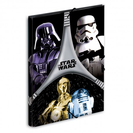 Carpeta Star Wars Flash A4 gomas solapas