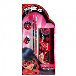 Set papeleria Prodigiosa Ladybug portatodo