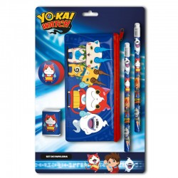 Set papeleria portatodo Yo Kai Watch 6pzs