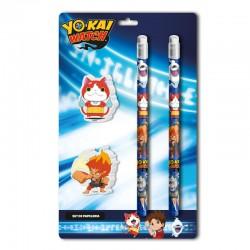 Blister papeleria Yo Kai Watch 4pzs