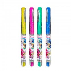 Set 4 boligrafos gel purpurina Shimmer y Shine