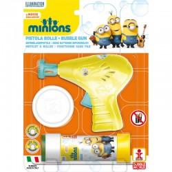 Pistola burbujas + pompero Minions