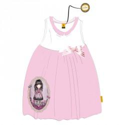 Vestido Gorjuss blanco rosa
