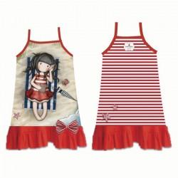 Vestido playa Gorjuss rojo