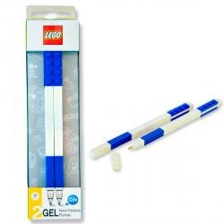 Pack 2 boligrafos Lego gel azul