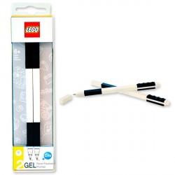 Pack 2 boligrafos Lego gel negro