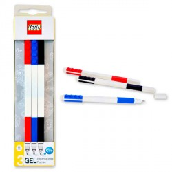 Pack 3 boligrafos Lego gel colores