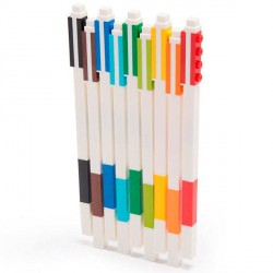 Pack 9 boligrafos Lego gel colores