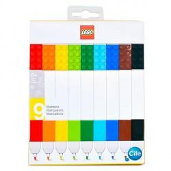 Estuche 9 rotuladores colores Lego