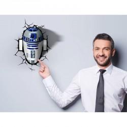 Lampara led 3D pared R2-D2 Star Wars Disney