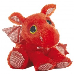 Peluche Dragon Dreamy Eyes rojo 30,5cm