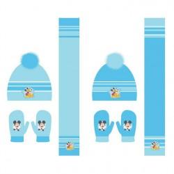 Set gorro guantes bufanda Mickey Disney surtido