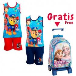 Pack oferta 10 conjuntos Paw Patrol + regalo trolley Frozen 41cm