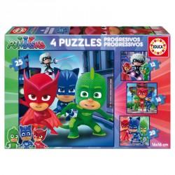 Puzzles progresivos PJ Masks 12-16-20-25pz