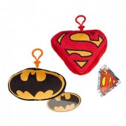 Llavero peluche Superman Batman DC clip 15cm surtido