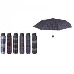 Paraguas plegable manual cuadros 54cm surtido