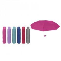 Paraguas plegable manual colores 54cm surtido