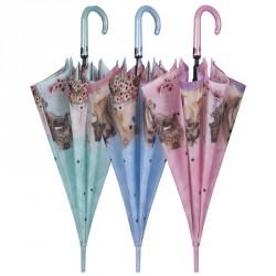 Paraguas automatico antiviento perros gatos 61cm surtido