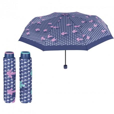 Paraguas plegable manual antiviento flechas 54cm surtido