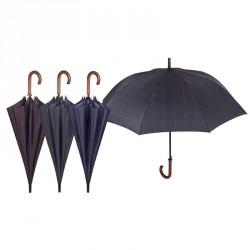 Paraguas automatico antiviento cuadros 65cm surtido