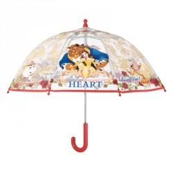 Paraguas manual burbuja La Bella y la Bestia Disney POE 42cm