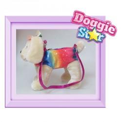 Bolso peluche Golden Doggie Star arcoiris