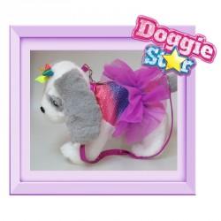 Bolso peluche Mastin Doggie Star arcoiris