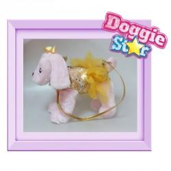Bolso peluche Labrador Doggie Star dorado