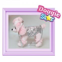 Bolso peluche Caniche gigante Doggie Star plata