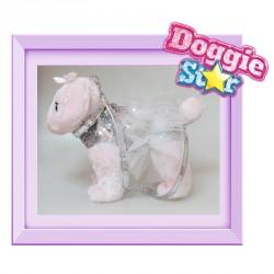 Bolso peluche Caniche Doggie Star morado