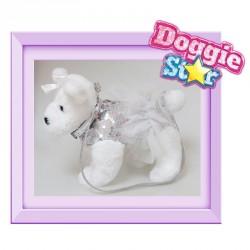 Bolso peluche Terrier Doggie Star plata