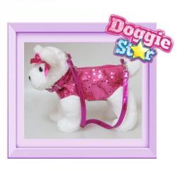 Bolso peluche Terrier Doggie Star fucsia
