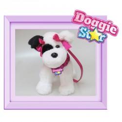 Bolso peluche Terrier negro y blanco Doggie Star morado
