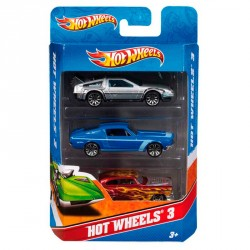 Blister 3 coches Hot Wheels surtido