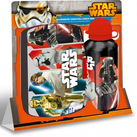 Set cantimplora + sandwichera Star Wars