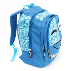 Mochila Spirit Emoticons Blue triple compartimento