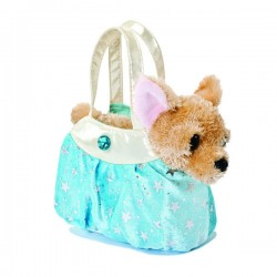 Peluche bolso Fancy Pal Chihuahua Hielo Azul Brillante