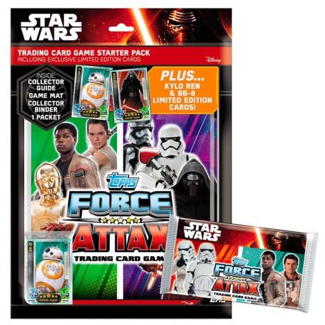 Starter pack cartas coleccionables Star Wars Episodio VII