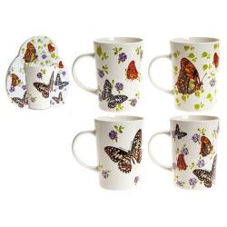 Taza mariposas surtido